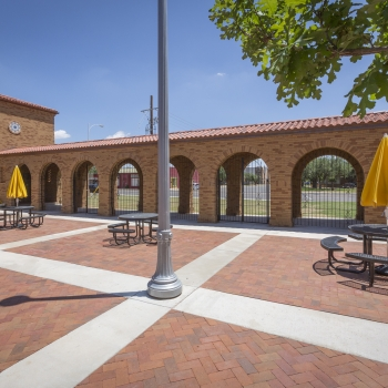 Lubbock High School Courtyard