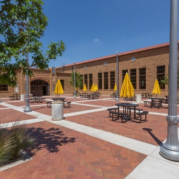 Lubbock High Courtyard